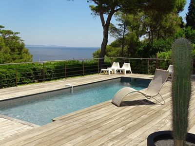 Photo for CAP BENAT VILLA 12 PERS. SEA VIEW WITH SWIMMING POOL