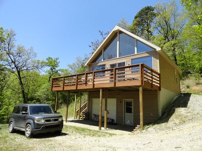 Photo for Winding Trails Cabin-Charming Lake Cabin with HUGE Dock, Swim Deck & Boat Launch