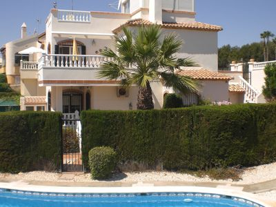 Photo for Large luxurious detached villa (sleeps 8) in fabulous Villamartin location