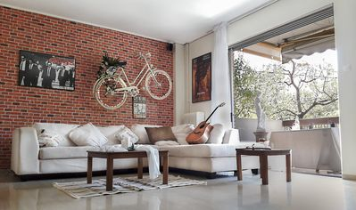 Photo for THE FAMOUS BIKE ON A WALL MUSIC AND MOVIE APARTMENT !!CLOSE TO ACROPOLIS AND SEA