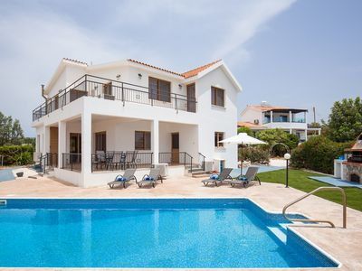 Photo for Large 4 Bedroom Family Villa with Hot Tub, Large Pool and Stunning Sea Views