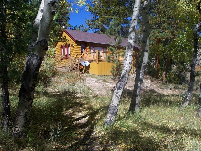 Cabins in the historic overlook ranch dog vrbo for Estes park dog friendly cabins