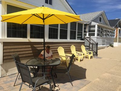 Relax on the patio or sit with your toes in the sand