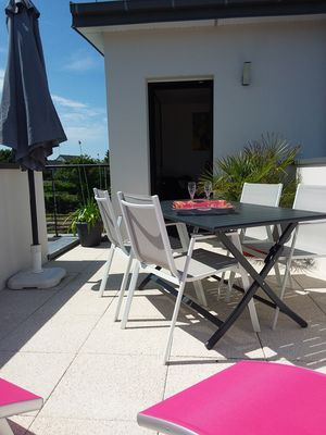 Photo for Beach at 300 meters, beautiful terrace and garden, rental comfort