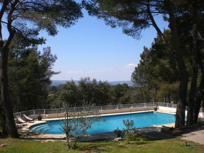 Photo for Modern house in the pine forest, very quiet, beautiful views, 8 minutes from Aix en Provence