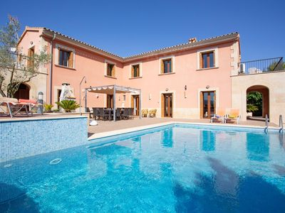 Photo for Country house finca with large, private pool and garden in the north of Mallorca