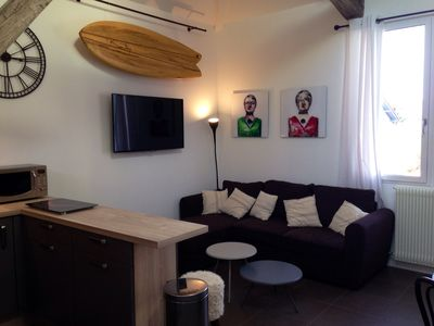 Photo for 2 ROOMS + MEZZANINE. All Biarritz on foot.