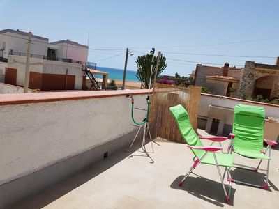 Photo for A terrace overlooking the sea