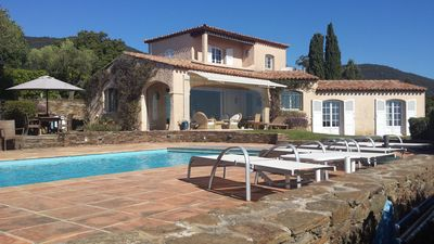 Photo for Côte d'Azur, Villa, top sea view, 3 DSZ, 2 bathrooms, 3 WC, to 6 persons. Private pool