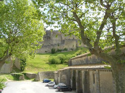 Photo for Penthouse Apartment looking out at Carcassonne Cite walls