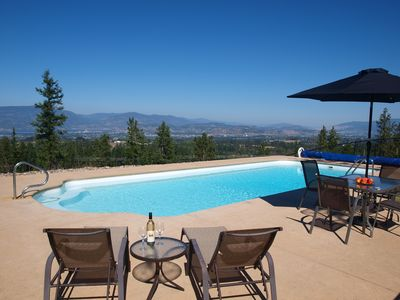 Photo for Idyllic getaway with pool, offering panoramic views yet close to everything!