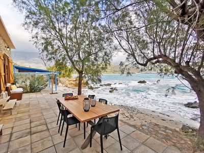 Photo for Beach house on Crete with direct access to the sea, for 6 persons.
