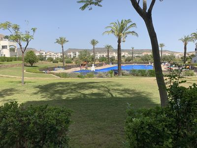 Photo for Ground Floor apartment  Hacienda Riquelme , views of pool and mountains