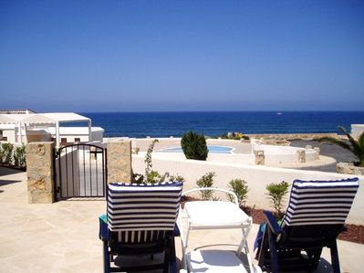 Stunning views over pool and the Mediterranean