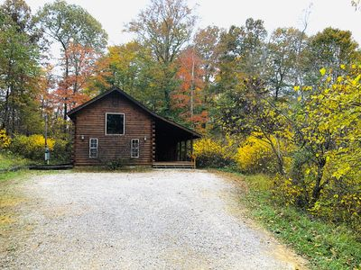 Photo for Beautiful cabin surrounded by wooded area in the Hocking Hills!
