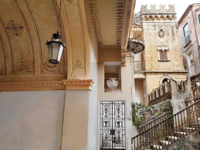 Photo for apartment Martina, with terrace and balcony, centre, 5 min. walk to the beach, inside palazzo 1700