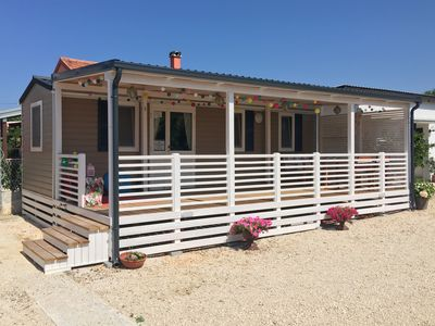 Photo for Lovely and Cosy Bungalow 30 meters from the Adriatic shore in Zadar County