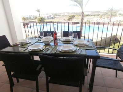 Photo for Apartment Hacienda Riquelme Golf Resort.