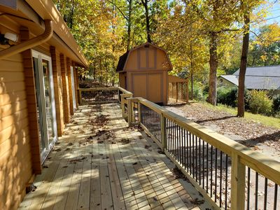 Photo for Luxury Cabin on Beaver Lake with Huge Deck, Private Swim & Boat Dock Access
