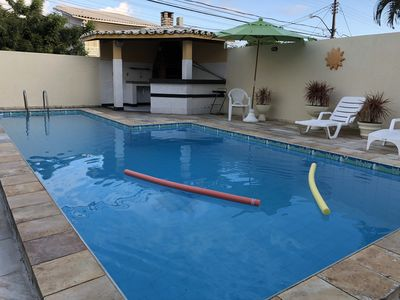 Photo for House 5/4 in Vilas do Atlântico, AR, 3 suites, Pool, Barbecue and Furnished