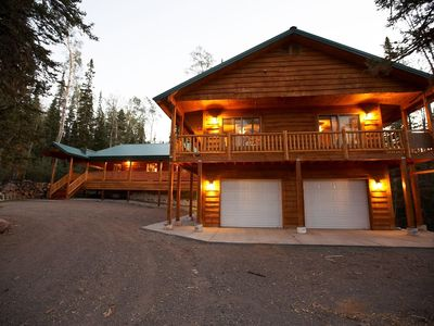 Photo for Wooded Cabins together sleep 38 in beds! Allow up to 50 with young ones!