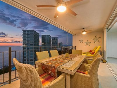 Photo for ☼Hypnotizing Seaview on 17th floor ☼Best location on town ☼Family getaway