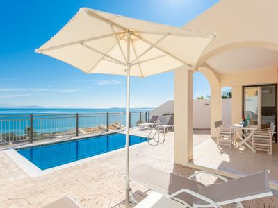 Photo for Akti Barbati Villa Ena: Private Pool, Walk to Beach, Sea Views, A/C, WiFi, Car Not Required