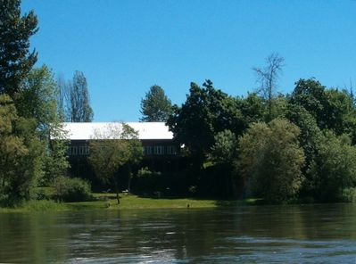 Back view from River Haus