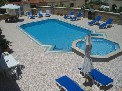 Swimming Pool, and a very spacious sun deck Sun beds and unbrellas