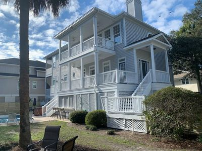 Photo for Pet Friendly 6 Bedroom home, 3rd row from the beach! Excellent Vacation Home!