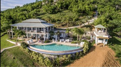 Photo for Seahorse Villa: luxury estate with 75' infinity pool overlooking the Caribbean