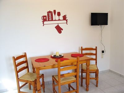 The dining area.