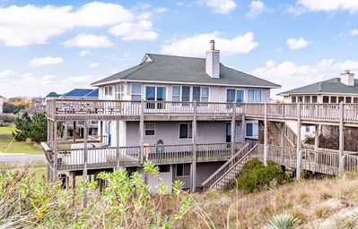 Photo for C5118 August Rush. Oceanfront, 5 BD, Elevator, Hot Tub, Pets OK, Rec Room!