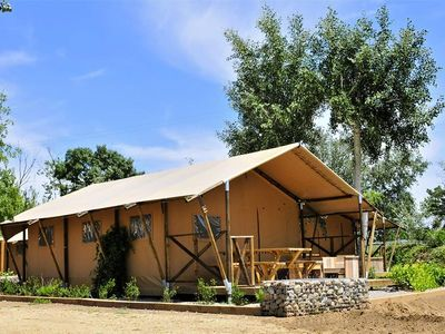 Photo for Camping Le Nauzan Plage **** - Premium Tent 3 Rooms 4/6 People