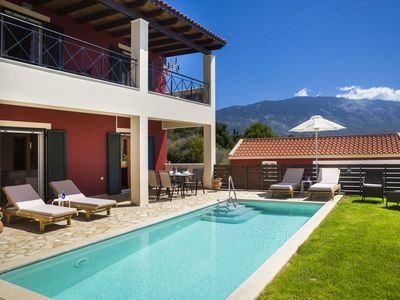 Photo for 3 Bedroom Villa Boasting the Ionian Sea and the Amazing Views of Aenos