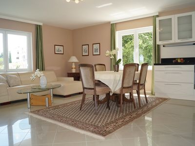 Photo for Large and modern FEWO in the 2-Fam.-House with garden !            2 min from the beach