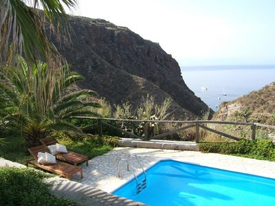 Photo for Aeolian Island Villa-Detached villa LIPARI, private pool with stunning sea view