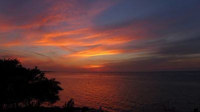 Photo for Direct Gulf Front Townhouse, Stunning Views, Private pool, Dock, Sunsets Galore