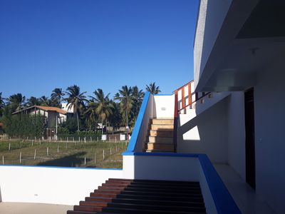 Photo for House with 4 suites, 50 meters from the beautiful beach of Flecheiras
