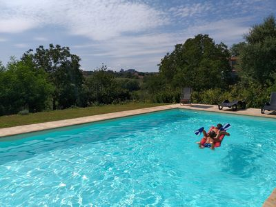Photo for BIO farm with swimming pool near Civita di Bagnoregio and Lake Bolsena