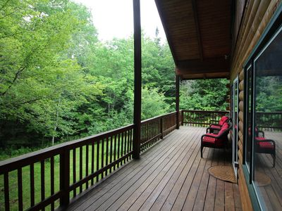 Photo for Stunning, dog-friendly lodge w/ a game room, wood stove, & full kitchen