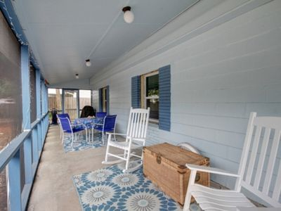Photo for NEW TO RENTAL MARKET ADORABLE, MODERN BEACH HOME FULLY RENOVATED!! ONE BLOCK TO BEACH AND SHORT BIKE RIDE TO MARINA!