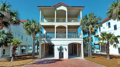 "Photo for Ready after Hurricane Michael! FREE BEACH GEAR! Gulf Beaches, Beach View, Pets OK, Elevator, 5BR/5BA ""Southern Star"""