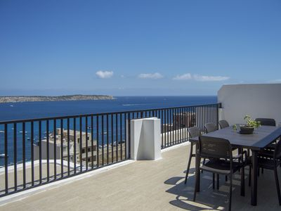 Photo for MELLIEHA - Modern Penthouse, close to Sandy Beach with superb sea views