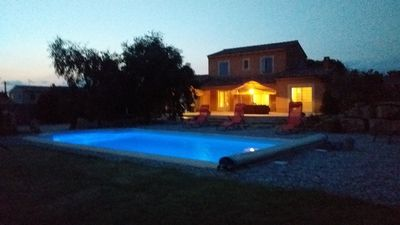 Photo for Villa at the foot of Mont Ventoux for 7 people in Malaucène with private pool