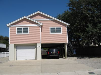 Photo for Modern 3 Bedroom House 'Pretty in Pink' Less Than Seven Houses From the Ocean