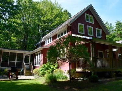 Photo for The Perfect Cottage Vacation - 5 acres, Tennis Court, walk to Lake MI