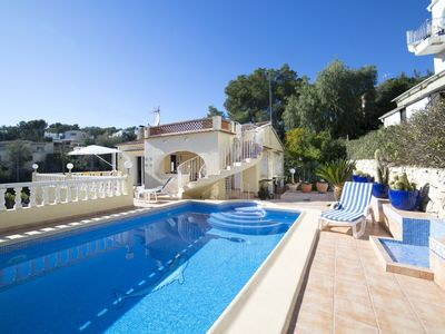 Photo for This 3-bedroom villa for up to 6 guests is located in Benissa and has a private swimming pool and ai