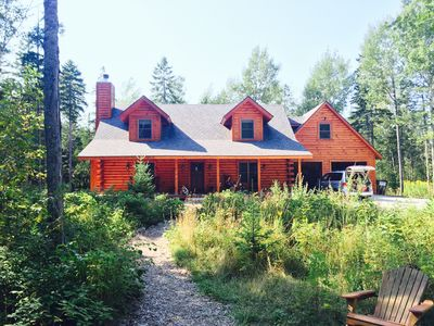 Photo for Beautiful Log Home on 5 quiet acres!