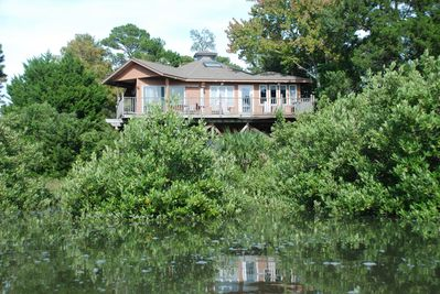 View of the home from the Salt Marsh